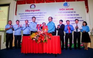 Hội LHTN Tây Ninh ký kết bản ghi nhớ hợp tác với Hội LHTN tỉnh Svay Rieng