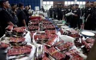 Malaysia thu giữ lượng ma túy lớn kỷ lục trị giá 17,5 triệu USD
