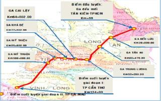 Đường sắt cao tốc TP HCM - Cần Thơ được kiến nghị đổi hướng tuyến