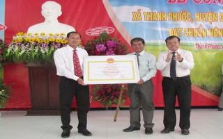Công nhận xã Thanh Phước đạt chuẩn nông thôn mới