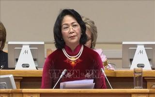 Phó Chủ tịch nước kết thúc tốt đẹp chuyến tham dự Diễn đàn Phụ nữ Á - Âu