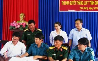 Tân Biên: Phát động đợt thi đua cao điểm chào mừng Đại hội thi đua quyết thắng LLVT tỉnh