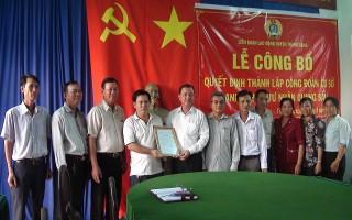 Trảng Bàng: Thành lập Công đoàn cơ sở doanh nghiệp ngoài nhà nước