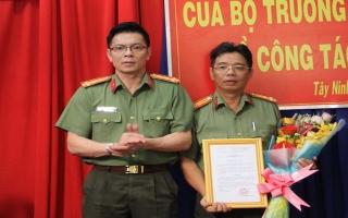 Công an Tây Ninh: Công bố quyết định của Bộ Công an về công tác cán bộ