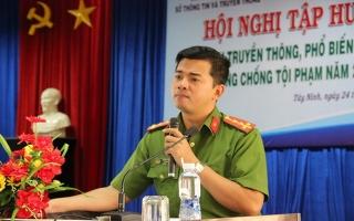 Tập huấn kỹ năng tuyên truyền về phòng chống tội phạm