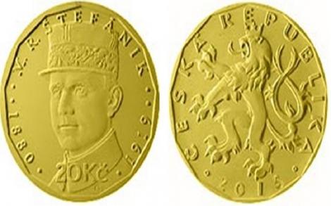 Đồng xu kỷ niệm 100 năm ngày Tiệp Khắc cũ ra đời