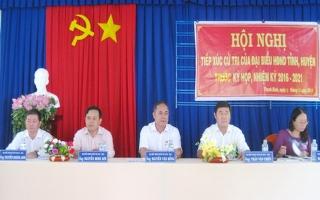 Đại biểu HĐND các cấp tiếp xúc cử tri địa phương