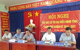 Chủ tịch UBND tỉnh tiếp xúc cử tri TP.Tây Ninh