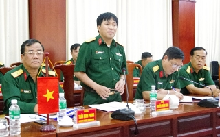 Cục Nhân sự Quân đội Hoàng gia Campuchia tham quan, trao đổi kinh nghiệm tại Sư đoàn 5