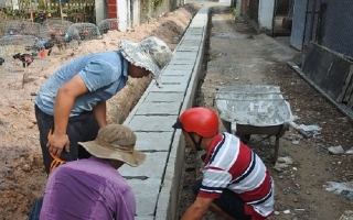 Bến Cầu: Đầu tư gần 1,4 tỷ đồng xây cống thoát nước khu vực thị trấn