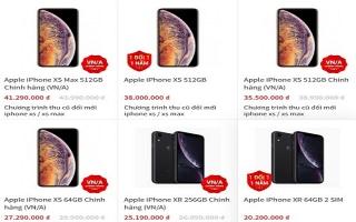 Giá iPhone XR, XS Max chính hãng hạ hàng triệu đồng