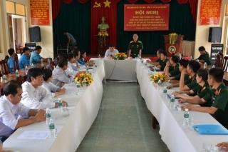Ban CHQS Tân Châu sơ kết công tác phối hợp với Công ty CP cao su Tân Biên