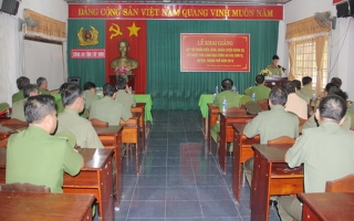 CATN: Tập huấn điều lệnh, huấn luyện quân sự, võ thuật