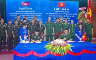 Sư đoàn 5: Hội đàm hợp tác với Lữ đoàn Can thiệp số 1, Quân đội Hoàng gia Campuchia
