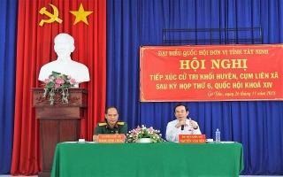 ĐBQH tiếp xúc cử tri sau kỳ họp thứ 6, Quốc hội khóa XIV