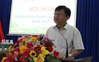 Tây Ninh: Tổ chức hội nghị triển khai pháp luật lần 2.2018