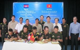 Ban CHQS Tân Biên và Chi khu quân sự các huyện giáp biên tổng kết hoạt động hợp tác năm 2018