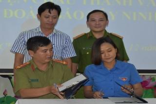 Chi đoàn Báo Tây Ninh kết nghĩa với Đoàn cơ sở Công an huyện Châu Thành