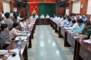 Chủ tịch UBND tỉnh làm việc với UBND huyện Tân Châu