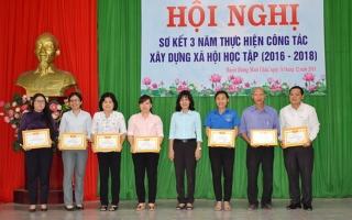 Huyện Dương Minh Châu sơ kết 3 năm thực hiện công tác xây dựng xã hội học tập