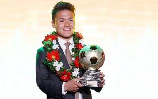 Quang Hải nhận Quả Bóng Vàng Việt Nam 2018