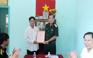 Bộ CHQS Tây Ninh: Tặng nhà đồng đội cho quân nhân dự bị động viên huyện Bến Cầu