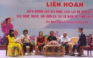 Tây Ninh: Biểu dương các gia đình, CLB, nghệ nhân, đội đờn ca tài tử
