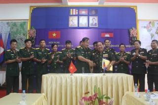 Bộ CHQS Tây Ninh phối hợp với các Tiểu khu quân sự giáp biên tổ chức kỷ niệm 40 năm giải phóng Campuchia