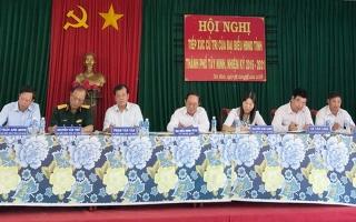 Chủ tịch UBND tỉnh tiếp xúc cử tri xã Tân Bình, TP.Tây Ninh