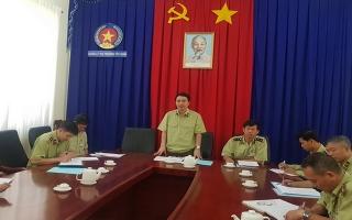 Tổng cục Quản lý thị trường làm việc tại Tây Ninh