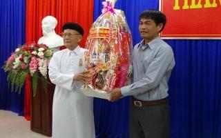 Hội thánh Cao Đài Tòa Thánh Tây Ninh chúc tết lãnh đạo TP.Tây Ninh