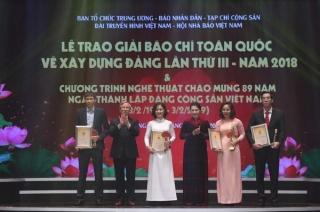 Trao Giải báo chí toàn quốc về xây dựng Đảng lần thứ III - năm 2018