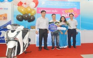 VNPT Tây Ninh trao thưởng cho khách hàng may mắn