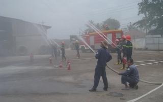 Công ty TNHH Thanh Bình thực tập phương án chữa cháy và cứu nạn, cứu hộ