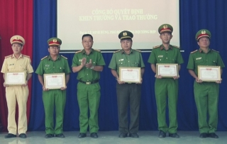 """Công an Dương Minh Châu đạt danh hiệu """"Đơn vị Quyết thắng"""""""