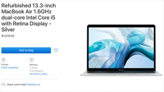 MacBook Air 2018 tân trang giá tương đương iPhone XS
