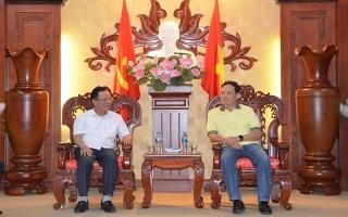 Đoàn công tác Tỉnh ủy Sơn La thăm và làm việc tại Tây Ninh