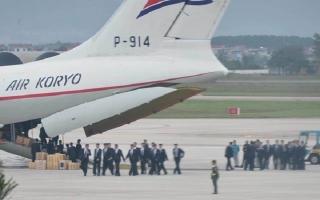Máy bay vận tải Triều Tiên vừa hạ cánh xuống Nội Bài