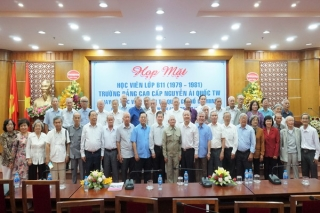 Họp mặt lần thứ 8 lớp Cao cấp chính trị B11 - Trường Đảng cao cấp Nguyễn Ái Quốc