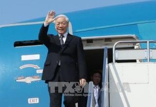 Tổng Bí thư, Chủ tịch nước Nguyễn Phú Trọng lên đường thăm Lào và Campuchia