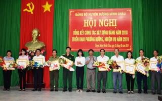 Năm 2018 huyện Dương Minh Châu phát triển mới 116 đảng viên