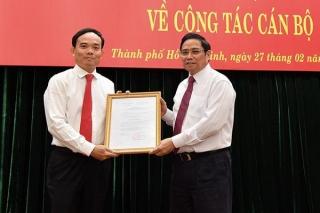 Bí thư Tỉnh ủy Tây Ninh Trần Lưu Quang làm Phó Bí thư Thường trực Thành ủy TP.HCM