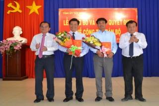 Bí thư Huyện ủy Gò Dầu Nguyễn Mạnh Hùng được điều động làm Bí thư Thành ủy Tây Ninh