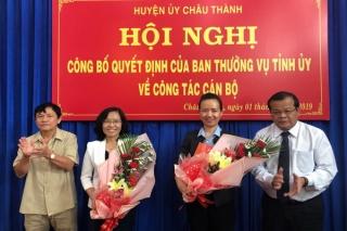 Trao quyết định điều động, chỉ định Bí thư Huyện ủy Châu Thành
