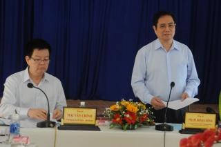 Trưởng ban Tổ chức Trung ương Phạm Minh Chính làm việc với Đảng ủy phường Ninh Thạnh, TP.Tây Ninh