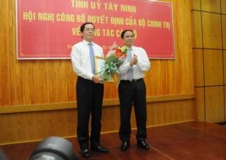 Bí thư Đảng ủy Khối Doanh nghiệp Trung ương được điều động làm Bí thư Tỉnh ủy Tây Ninh