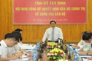 Trưởng ban Tổ chức Trung ương Phạm Minh Chính làm việc với Tỉnh ủy Tây Ninh