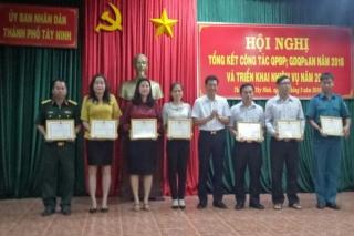 TP.Tây Ninh tổng kết công tác quốc phòng địa phương năm 2018