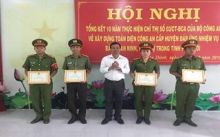 Châu Thành:Tổng kết 10 năm thực hiện Chỉ thị 03 của Bộ Công an