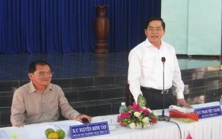 Bí thư Tỉnh ủy Tây Ninh Phạm Viết Thanh làm việc tại Tân Biên